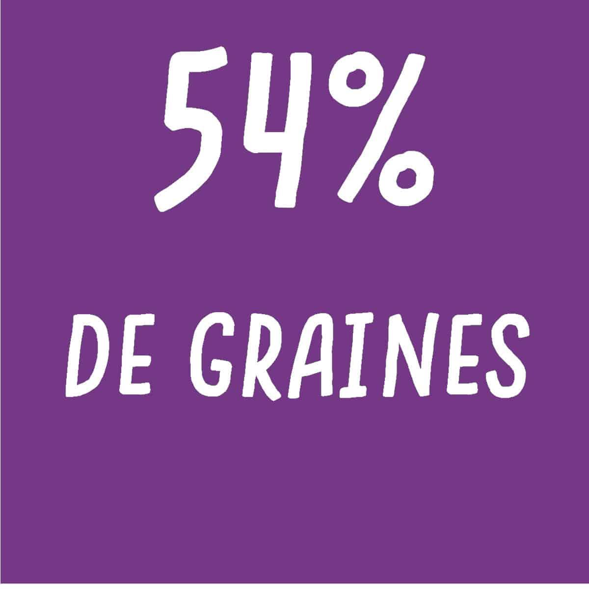 crackers tomate, ail, ciboulette 54% de graines